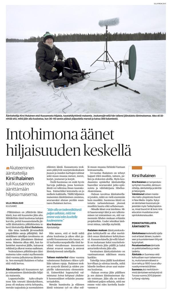 Kaleva interview